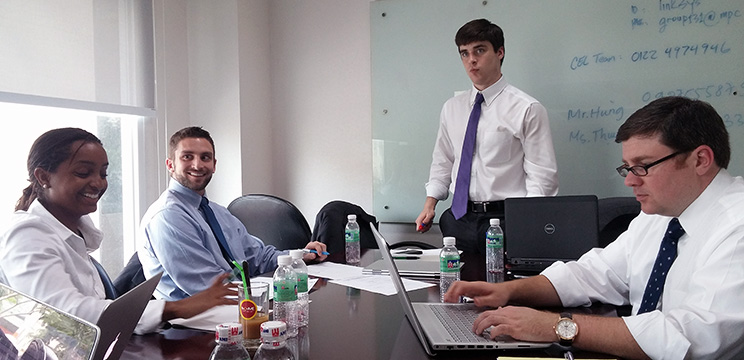The Fellows program provides leadership development training for students in Practicum consulting teams.