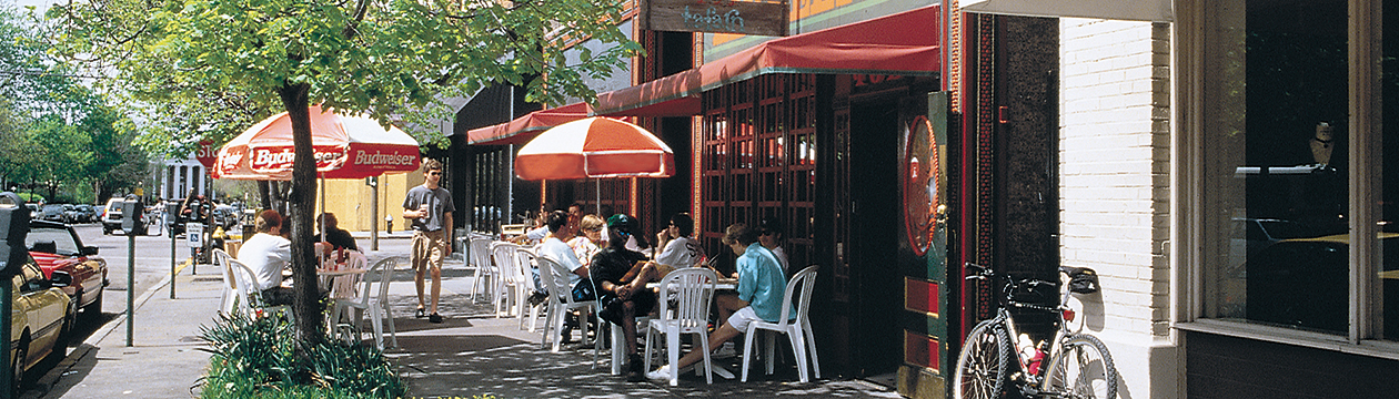 Casual dining options abound in the Central West End and Delmar Loop neighborhoods.