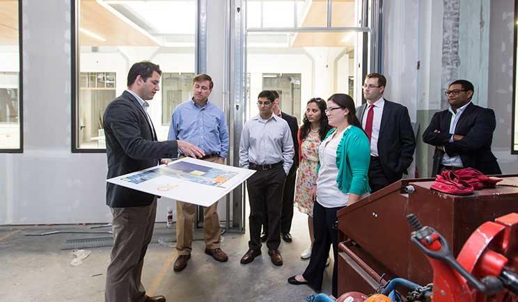 Students consult with Cambridge Innovation Center